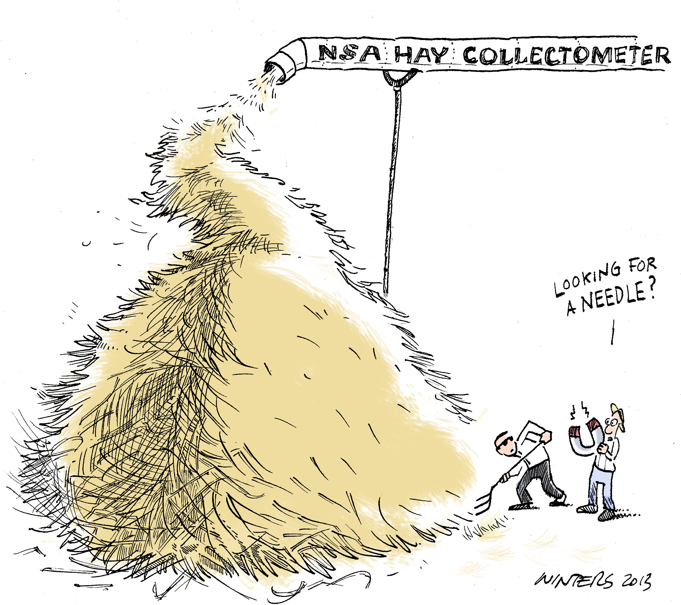How big of a haystack do you need to hide?